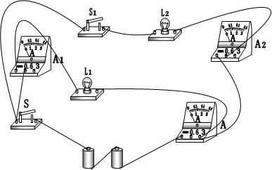 灯泡串联电路图实物图